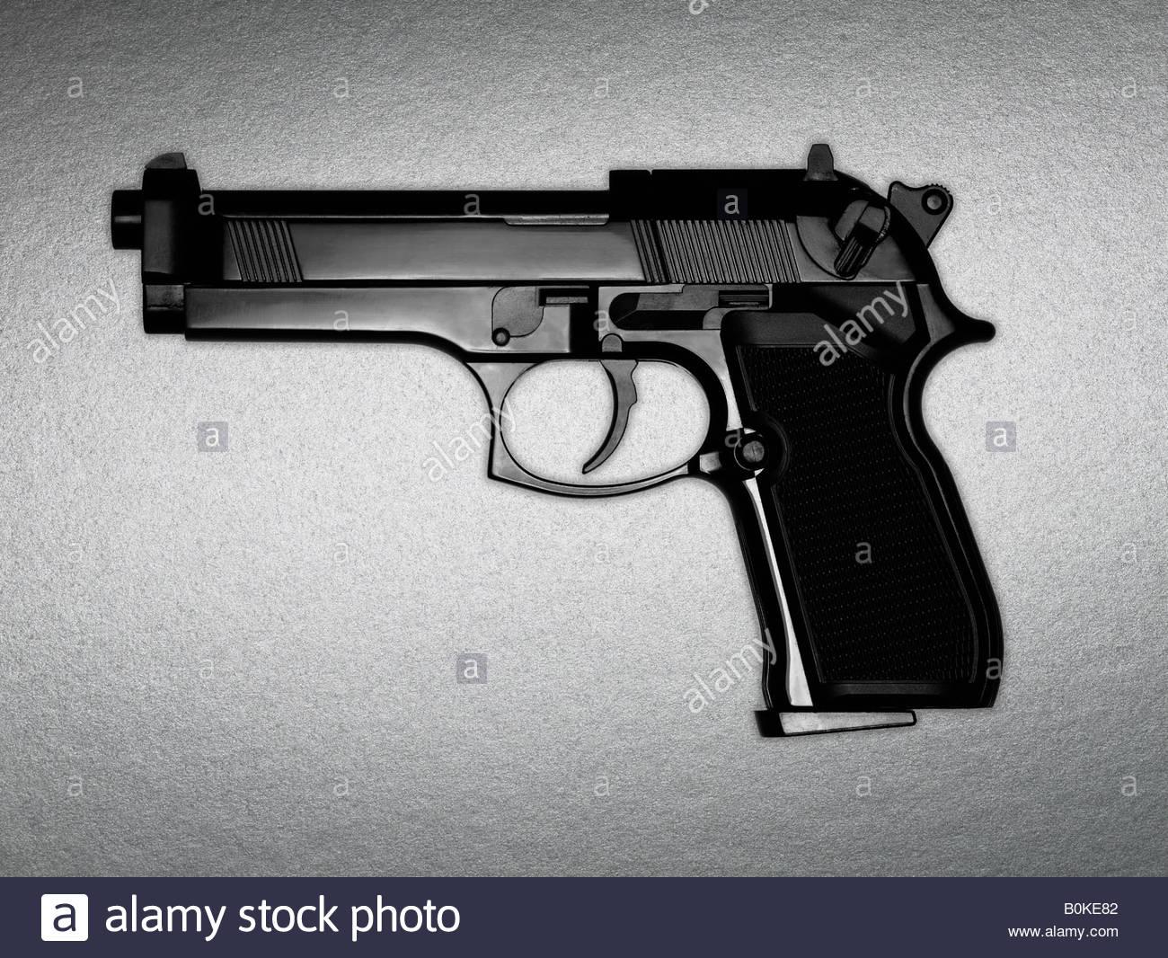 A black gun - Stock Image