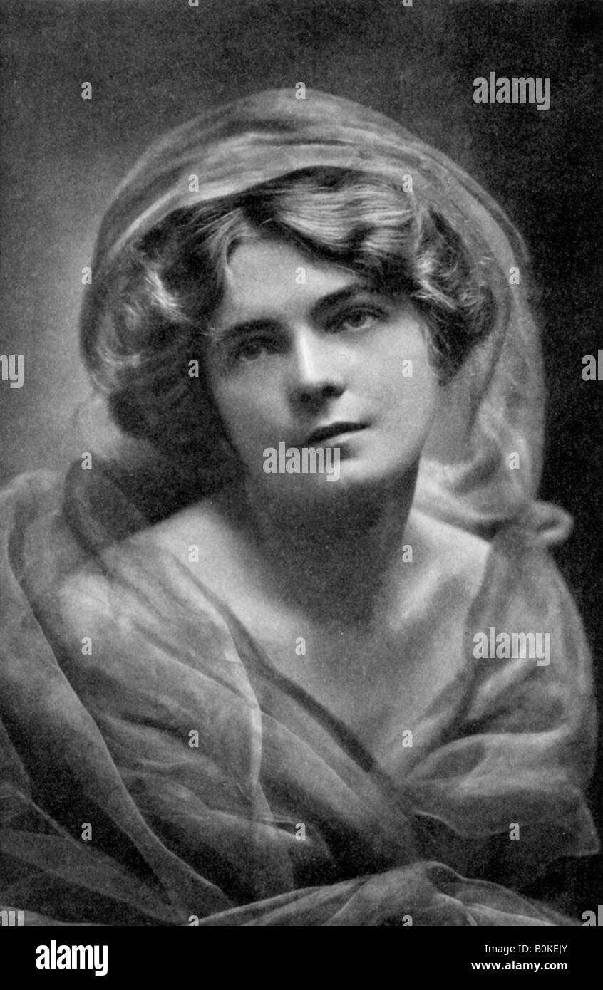Gertrude Robins (1890-1962), American actress, 1908-1909. Artist: S Elwin Neame - Stock Image