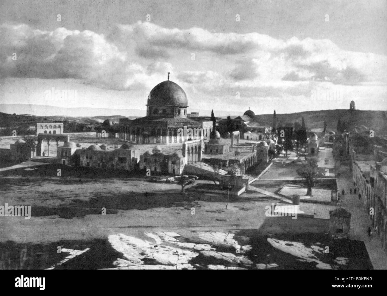 The Mosque of Omar on the site of the ancient temple, Bethlehem, Israel, 1926. - Stock Image