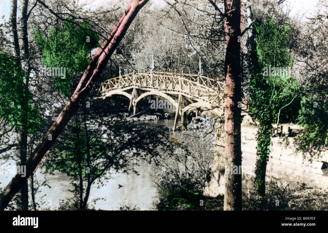 Bridge over the River Thames at Nuneham Courtenay, Oxfordshire, 1926. Artist: Cavenders Ltd - Stock Image