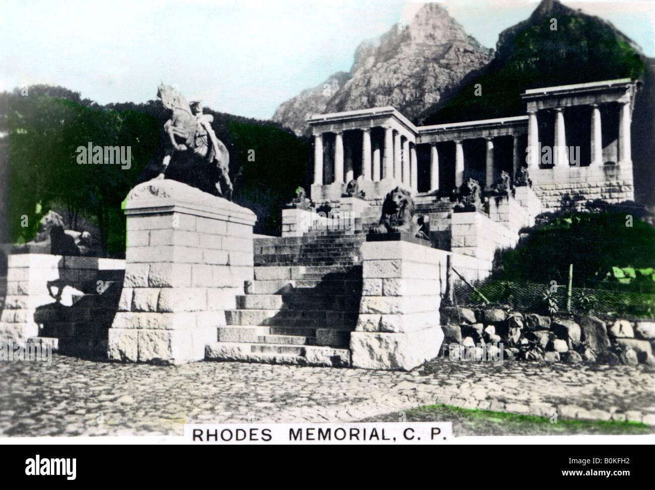 Rhodes Memorial, Devil's Peak, Cape Town, c1920s. Artist: Cavenders Ltd - Stock Image