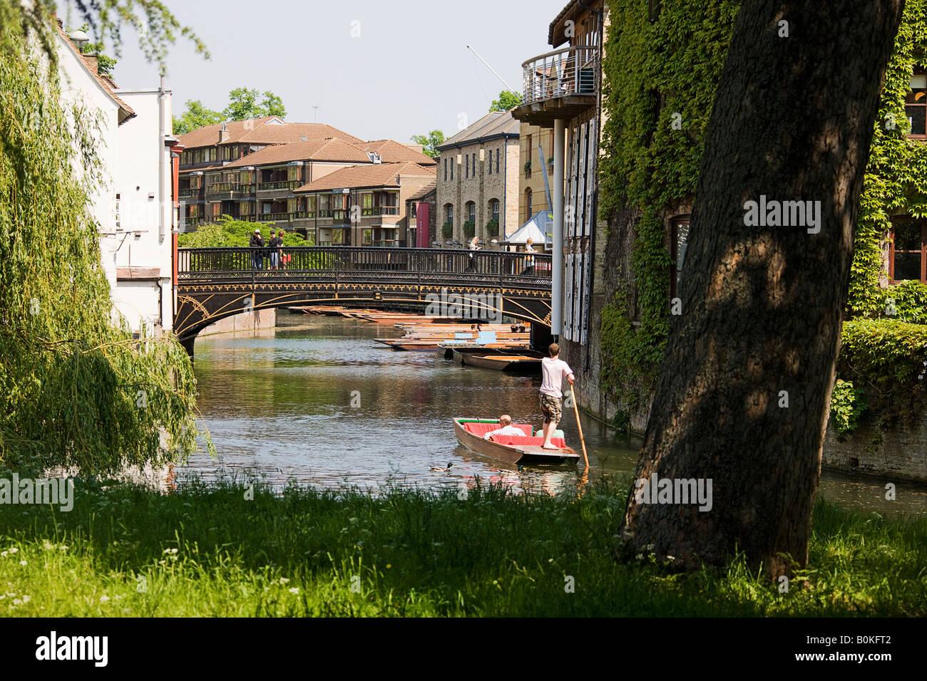 magdelene  bridge from St John's. Cambridge. - Stock Image