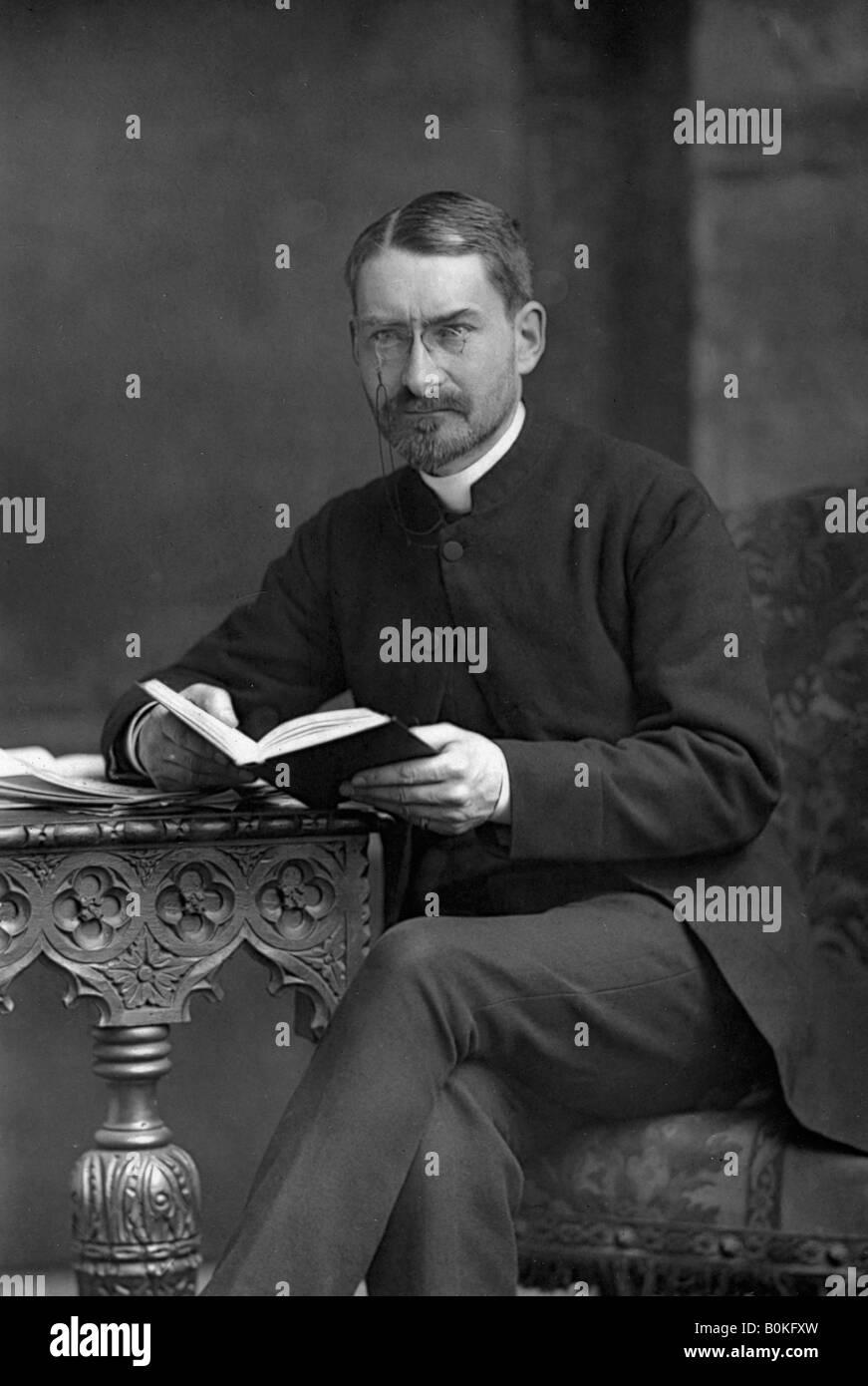 Reverend Hugh Price Hughes (1847-1902), 1890. Artist: W & D Downey - Stock Image