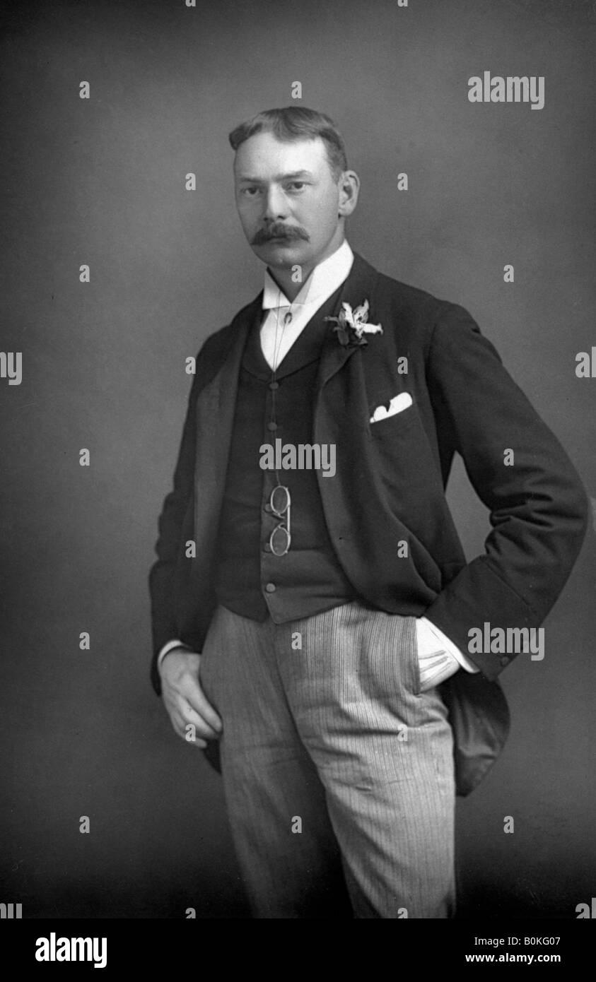 Jerome K. Jerome (1859-1927), English author, 1893. Artist: W & D Downey - Stock Image