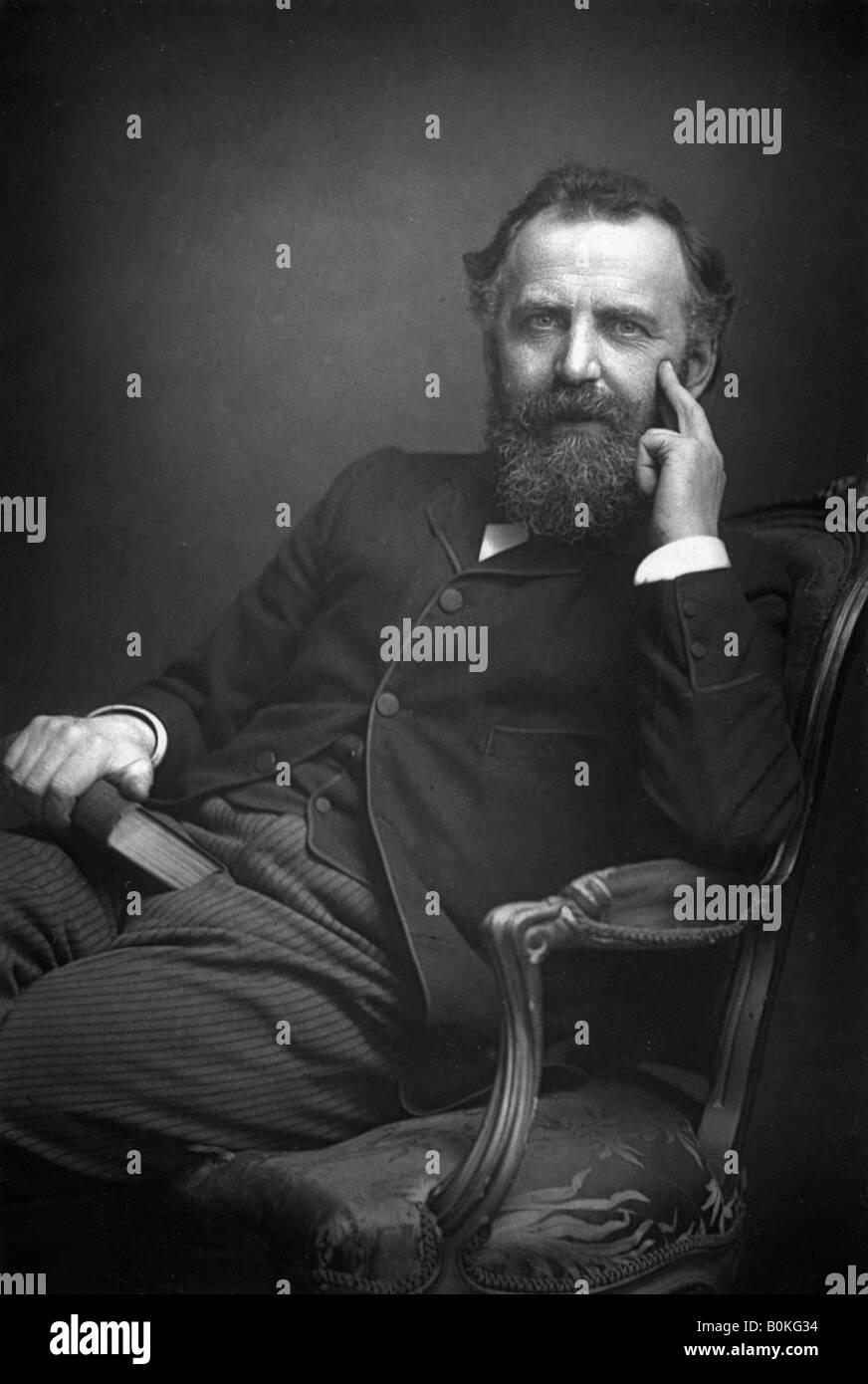 William Thomas Stead (1849-1912), English journalist, 1893. Artist: W & D Downey - Stock Image