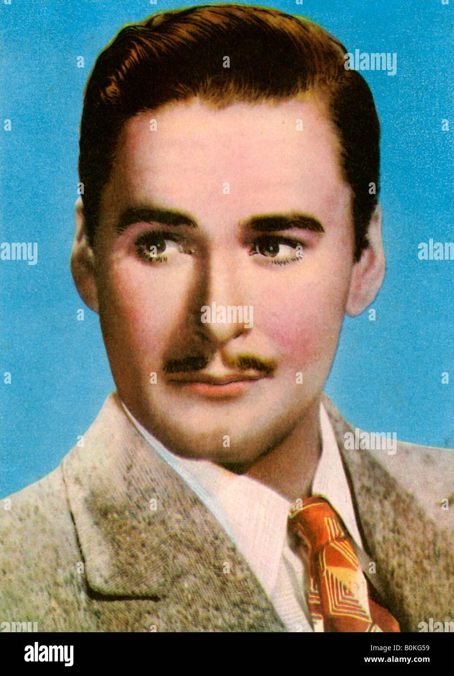 Errol Flynn (1909-1959), American film actor, 1940s. - Stock Image