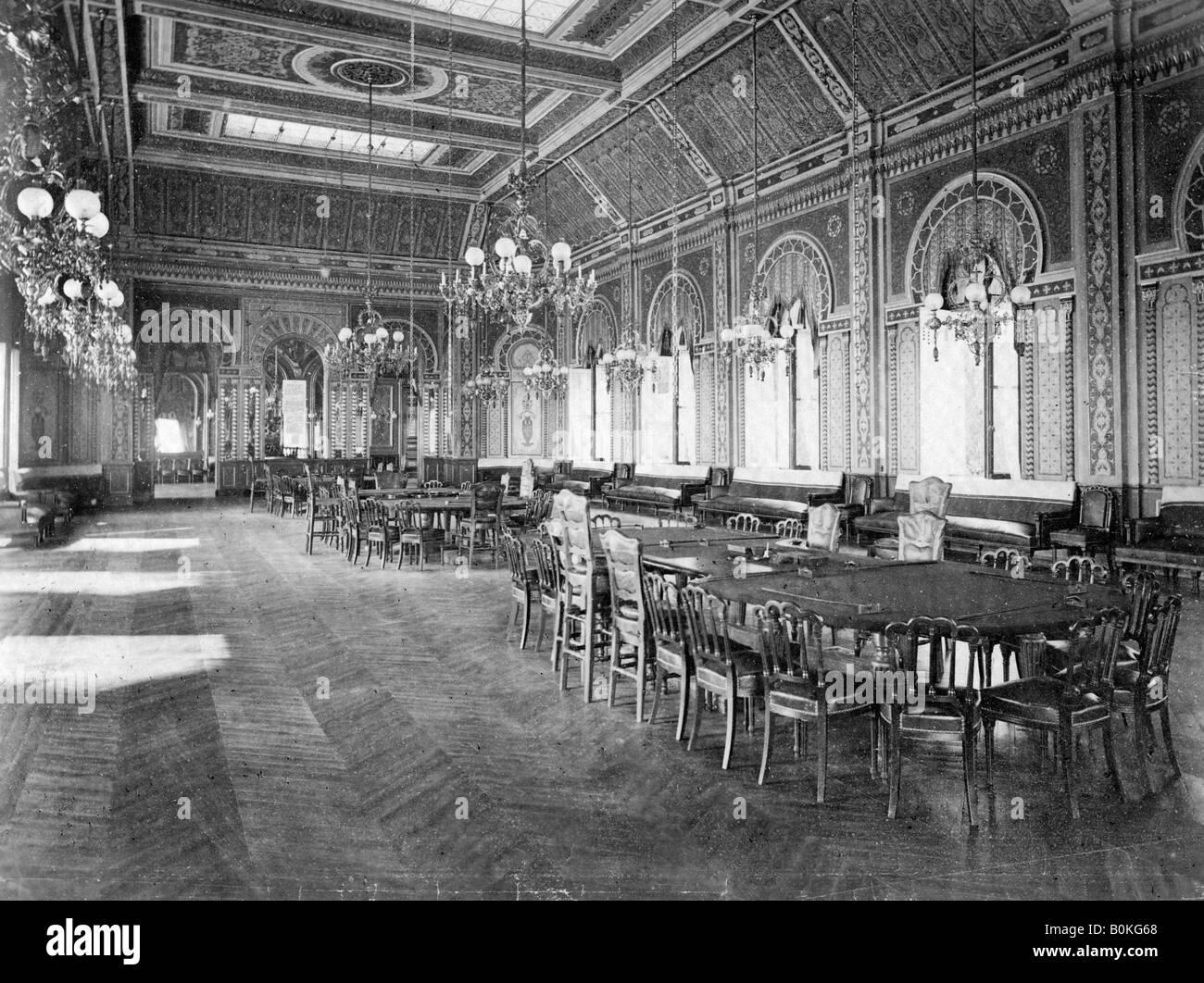 The Roulette Saloon, Monte Carlo, Monaco, c 1910s. - Stock Image