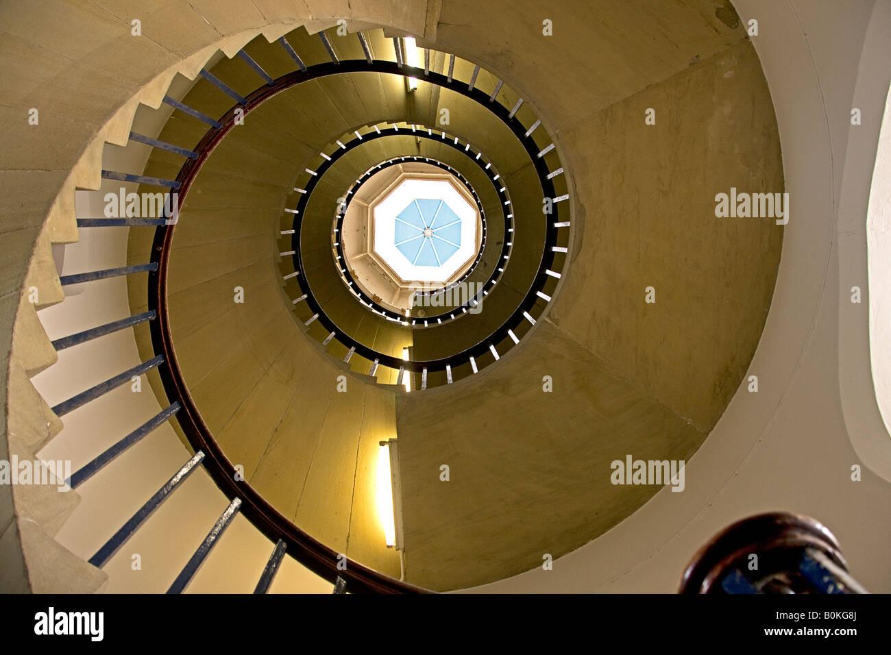 Spiral staircase. St john's college. Cambridge. - Stock Image