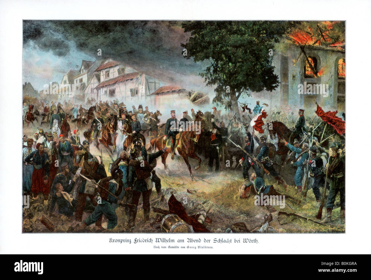 Crown Prince Friedrich III of Germany, Austro-Prussian War. (1866), 1900. Artist: Unknown - Stock Image