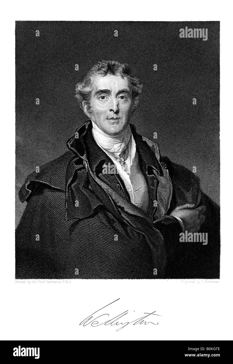 Duke of Wellington, (1769-1852), 19th Century. Artist: Duke of Wellington; H Robinson - Stock Image