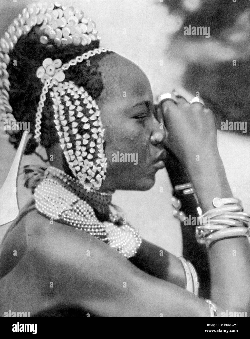 A Nigerian girl, 1936 Artist: Wide World Photos - Stock Image