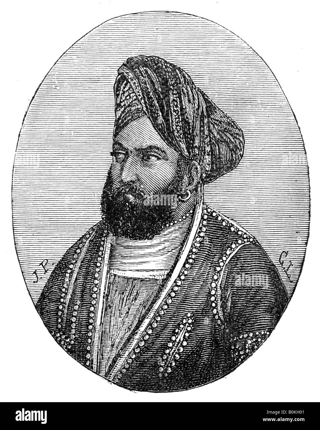 Mohammad Akbar Khan, 19th century. Artist: Unknown - Stock Image