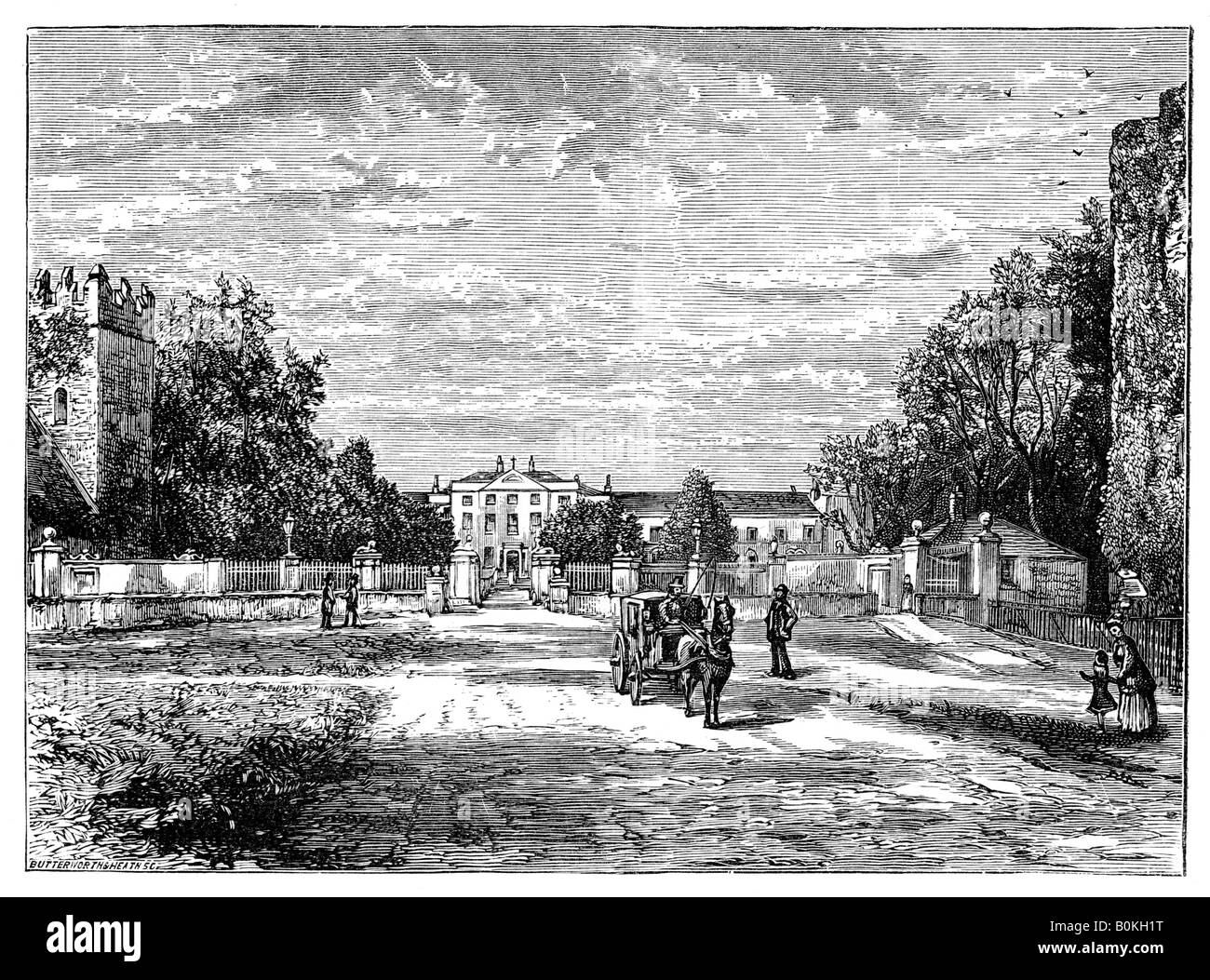 Maynooth College, County Kildare, Ireland, 1900. Artist: Unknown - Stock Image