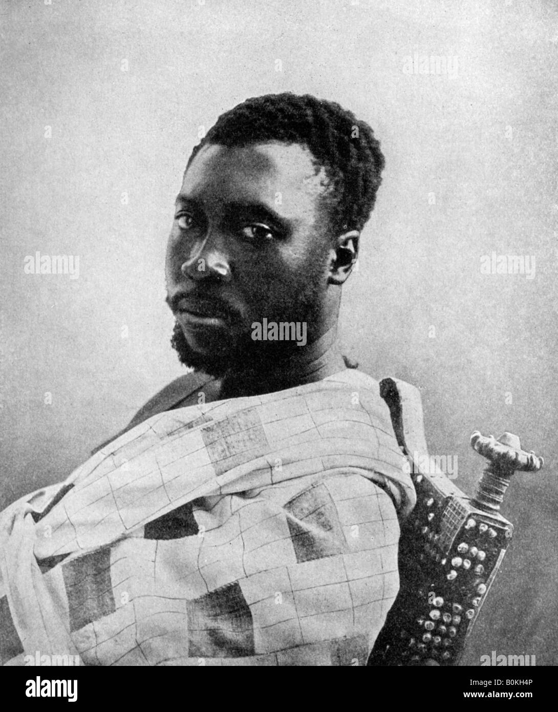 Prempeh, last of the Ashanti kings, Ghana, 1922.Artist: PA McCann - Stock Image