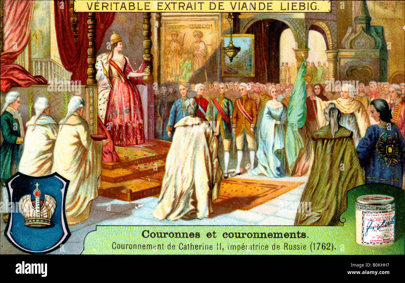 The Crowning of Catherine II, Empress of Russia in 1762, (c1900). Artist: Unknown Stock Photo
