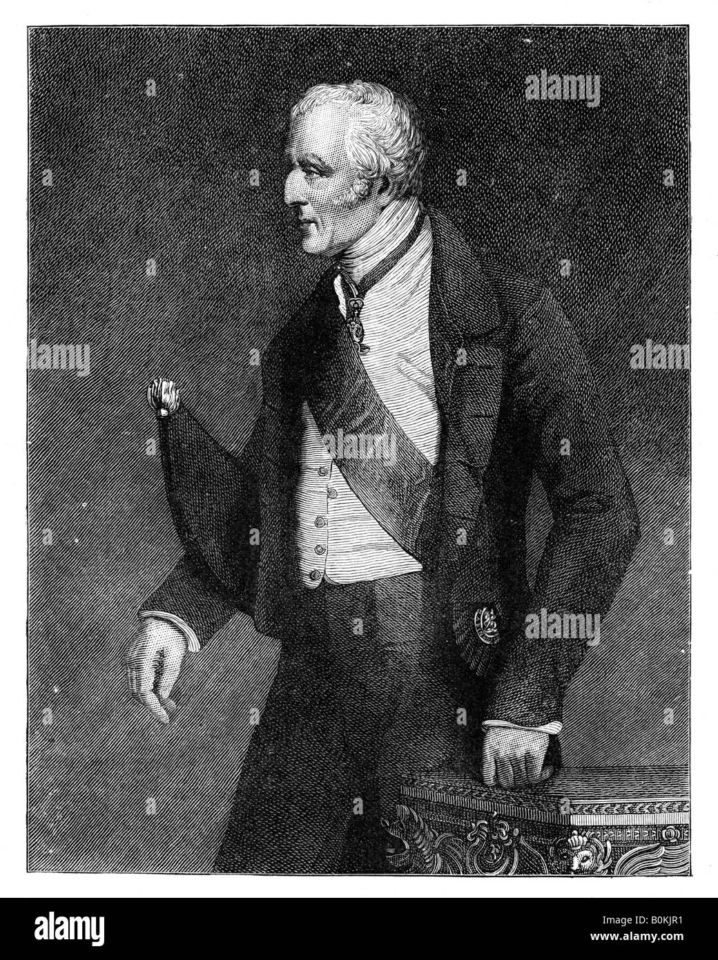 Arthur Wellesley, 1st Duke of Wellington, British soldier and statesman, mid-19th century, (c1888).  Artist: Unknown - Stock Image