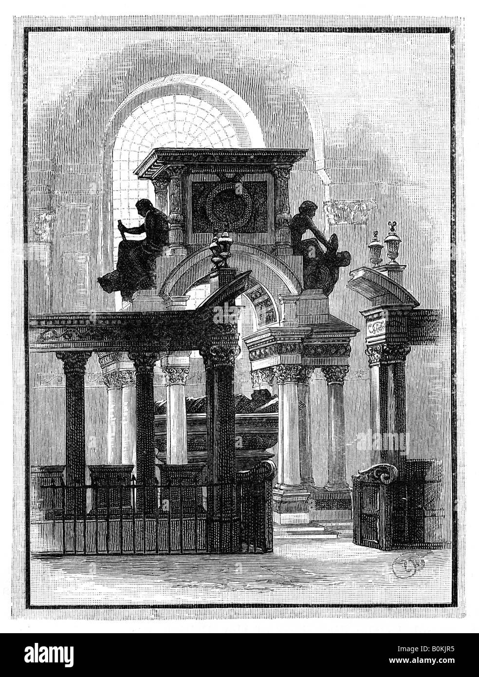 Wellington Monument, St Paul's Cathedral, London, c1888. Artist: Unknown Stock Photo