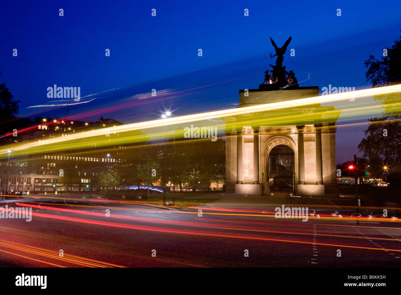 Wellington Arch Hyde Park Corner London U K Europe - Stock Image