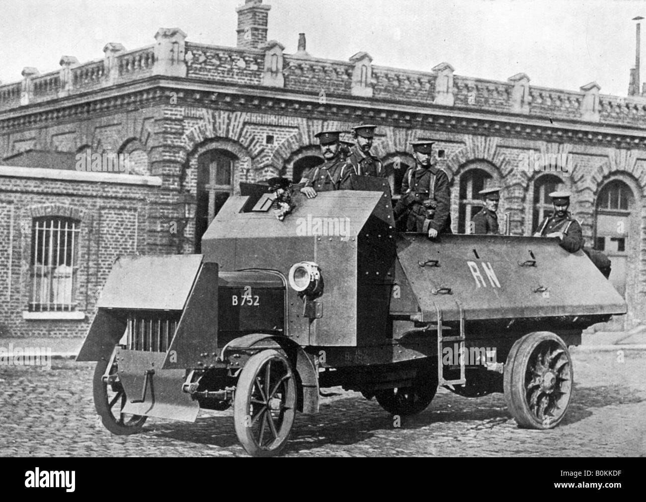 British armoured vehicle, First World War, 1914-1918, (c1920 Stock ...