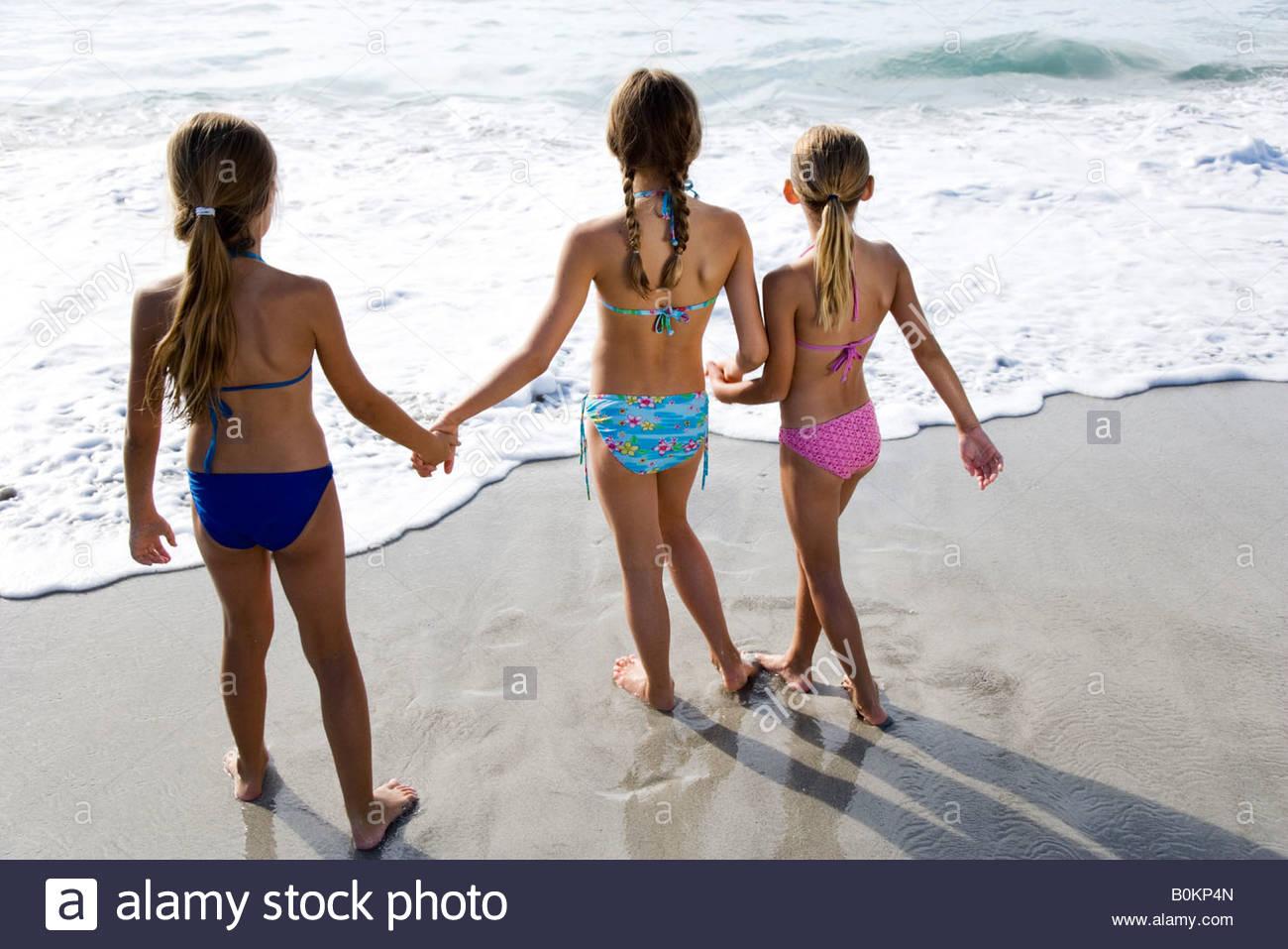 Bystiga unga teen flickor