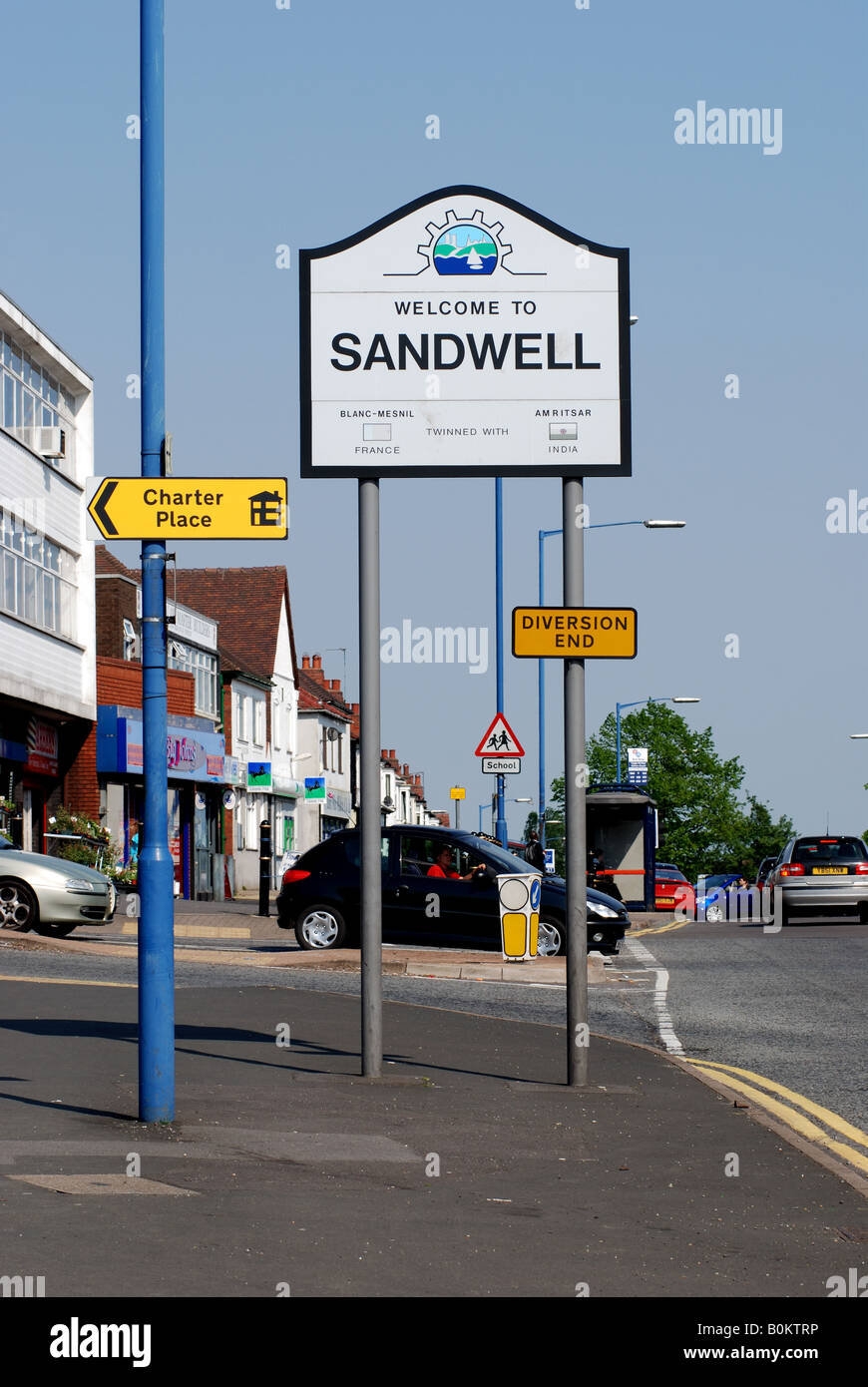 Sandwell sign in Quinton, West Midlands, England,  UK - Stock Image
