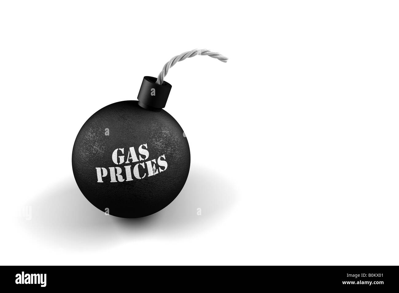 Gas bomb conceptual image for exploding gas prices - Stock Image