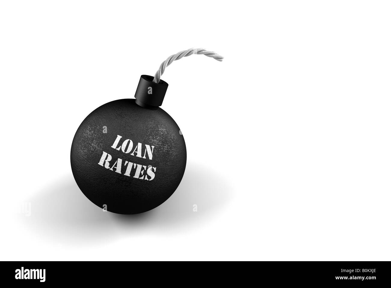 Exploding Loan Rates conceptual image for exploding loan rates - Stock Image