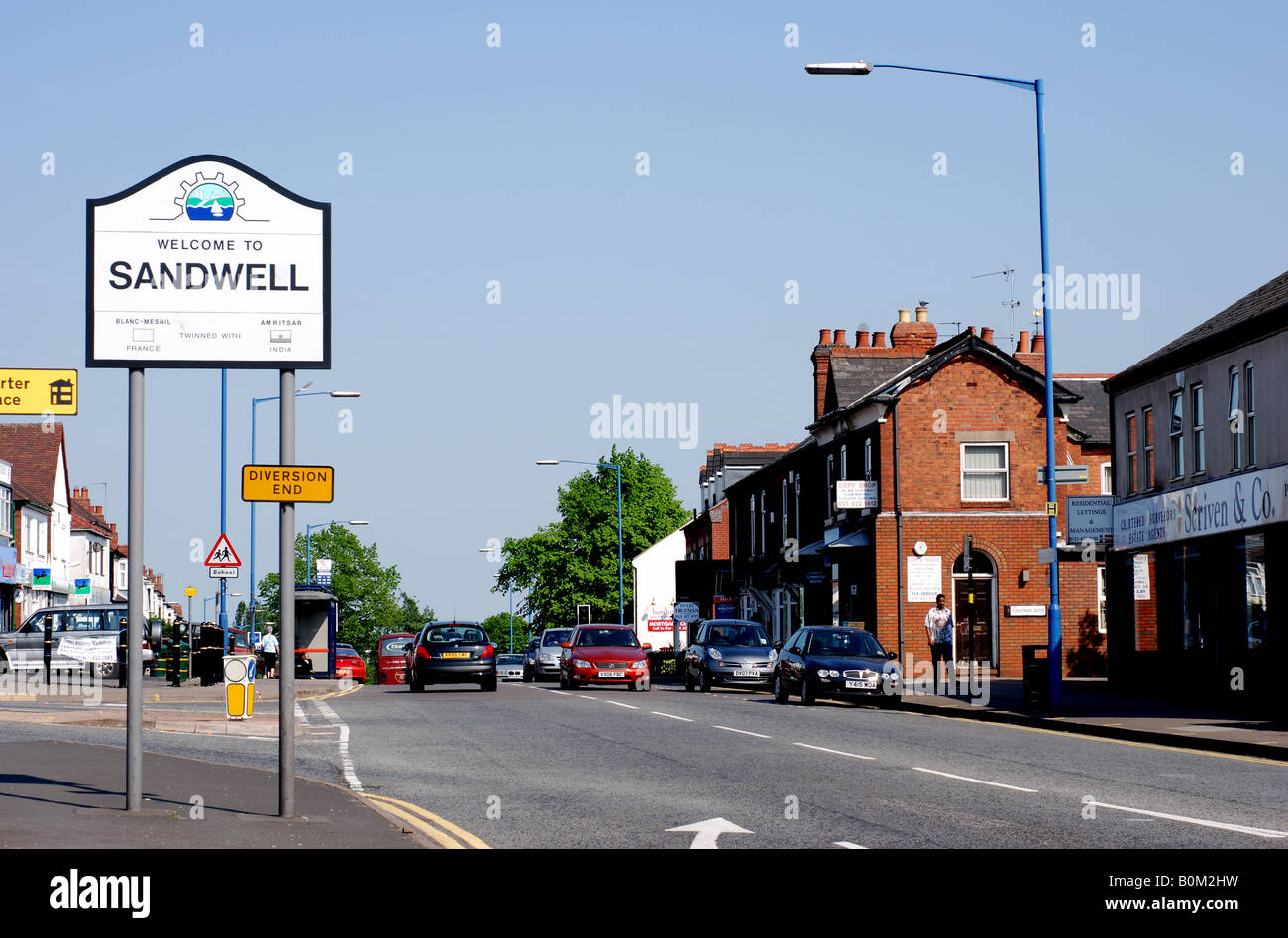 Hagley Road West in Quinton, West Midlands, England, UK - Stock Image