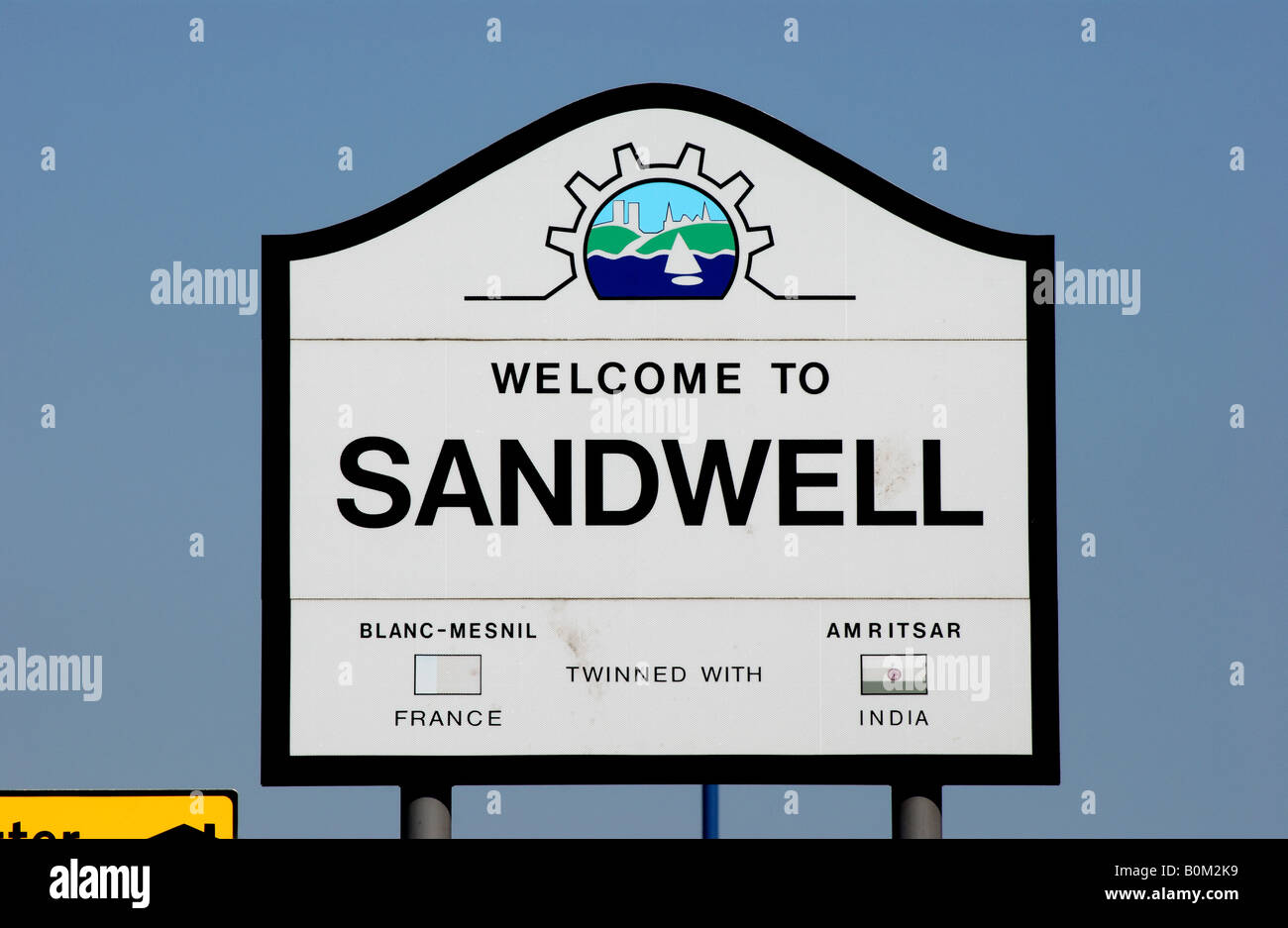 Welcome to Sandwell sign, West Midlands, England, UK - Stock Image
