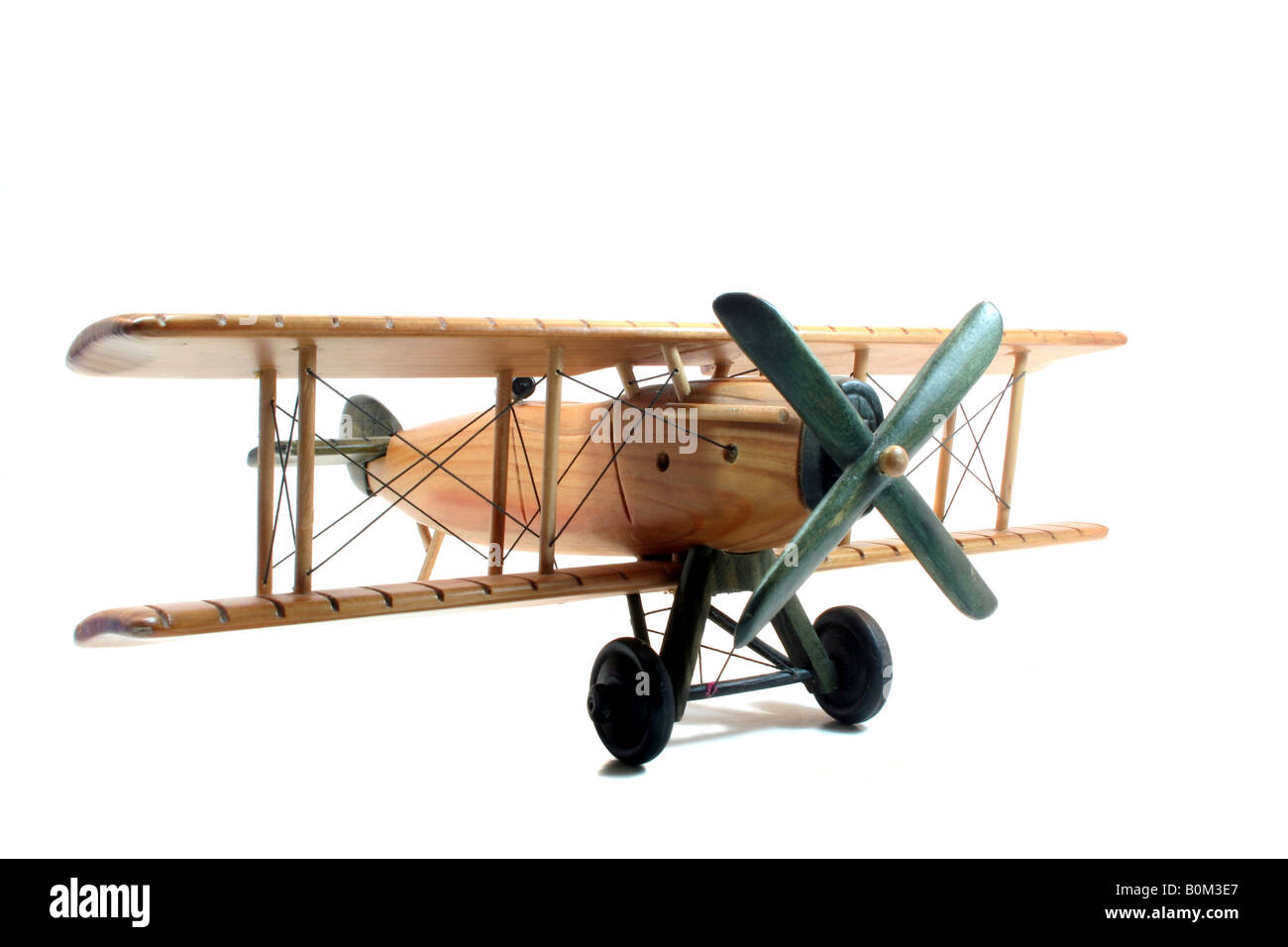 Wooden toy plane - Stock Image