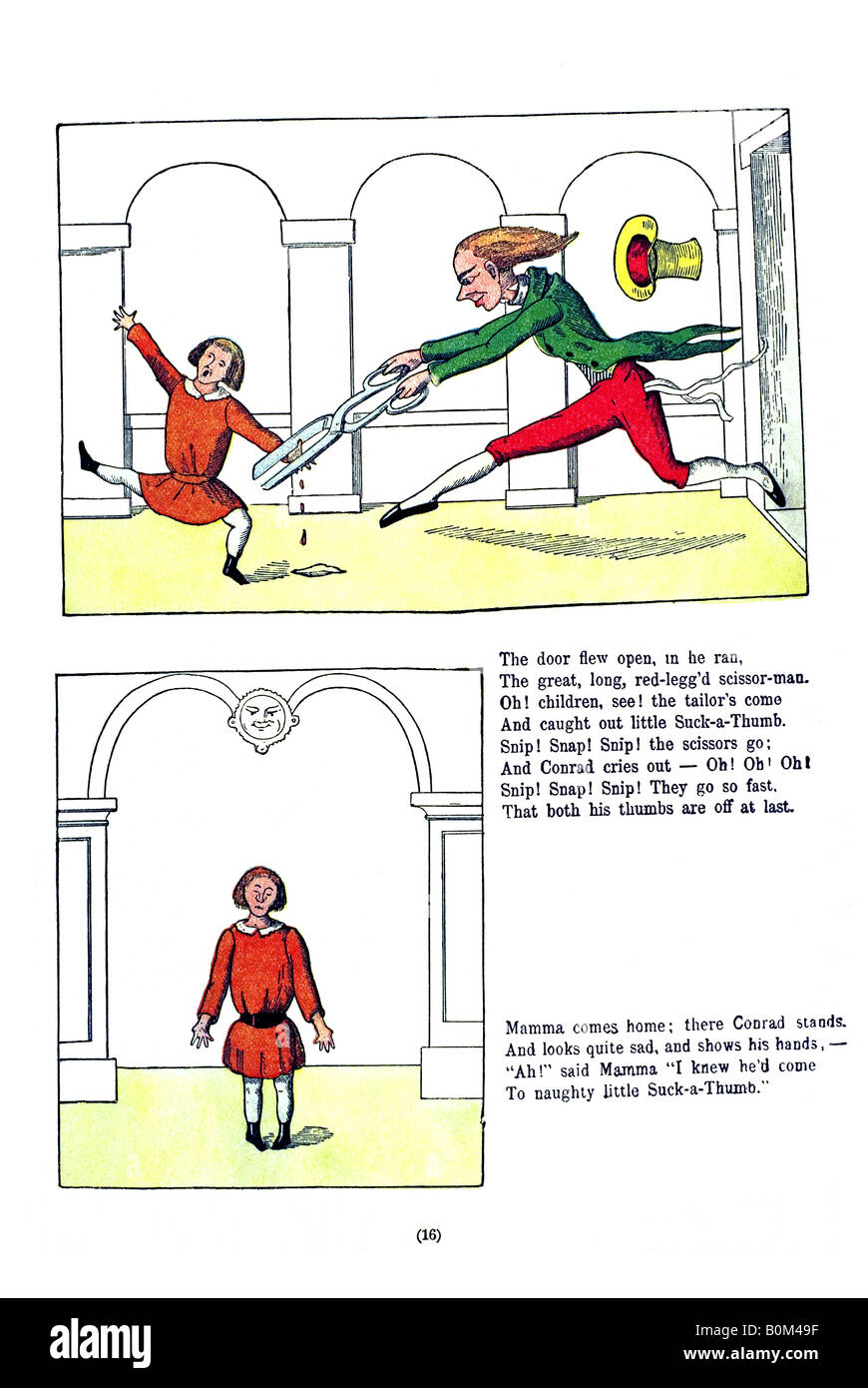 English Struwwelpeter 16 The Story of Little Suck-a-Thumb b Stock