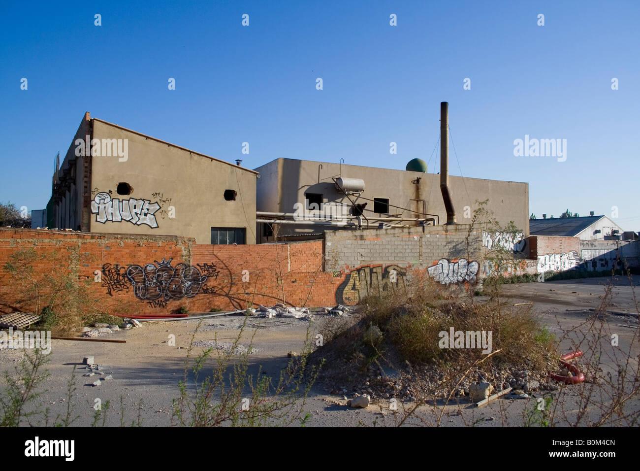 periphery, leaved factory, el saler, - Stock Image