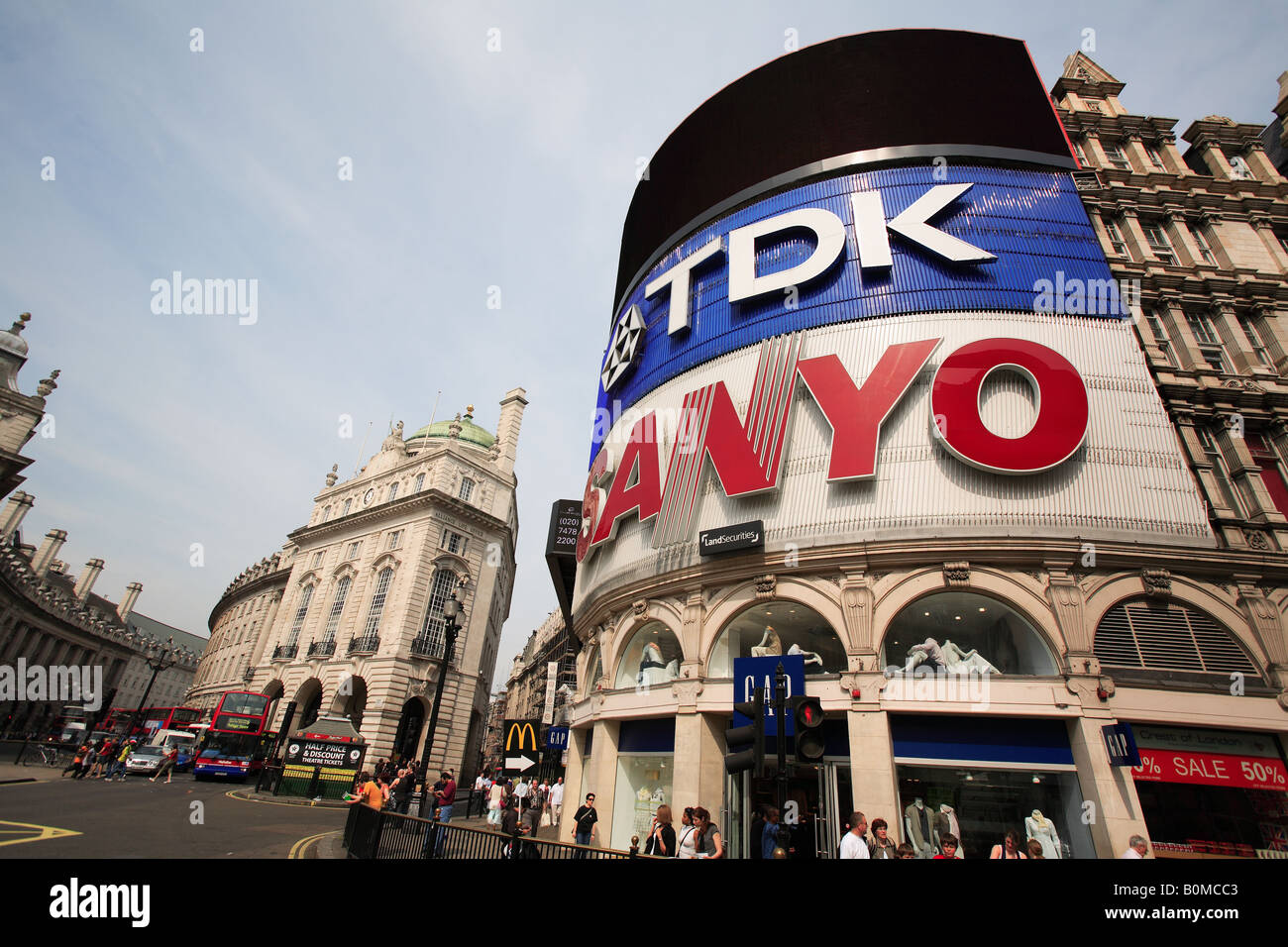 united kingdom west london W1 piccadilly circus - Stock Image