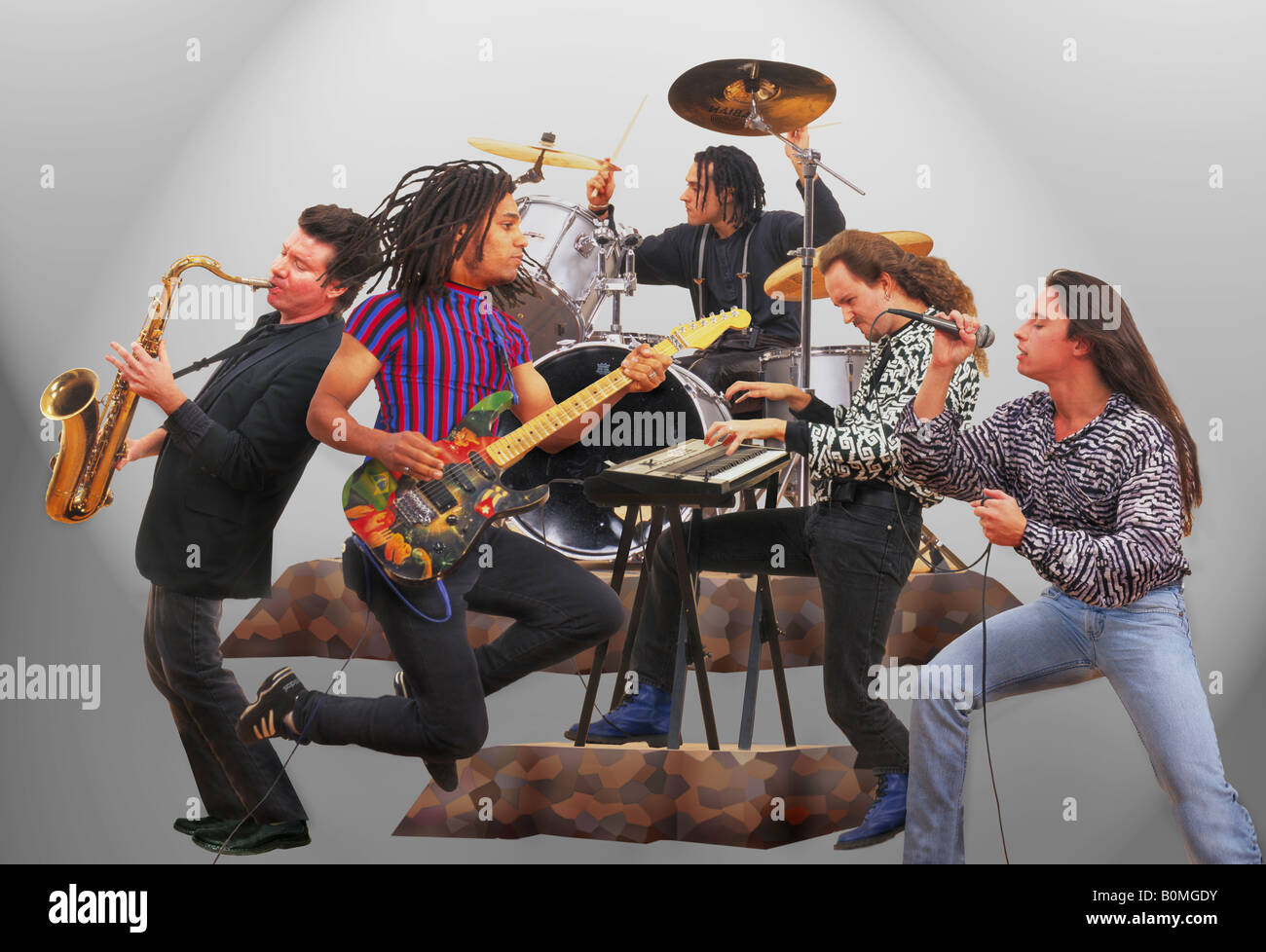 rock band - Stock Image