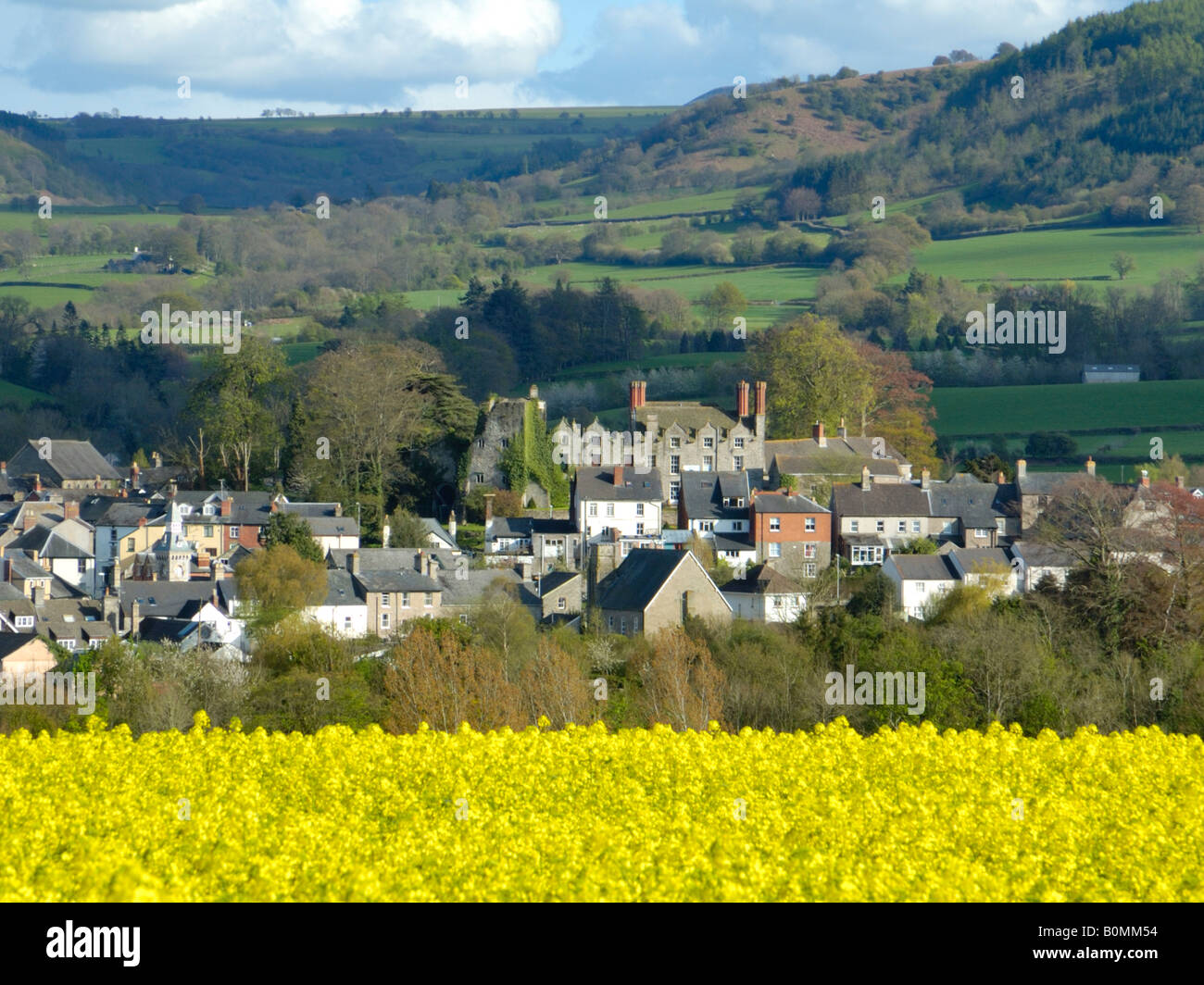 Hay on Wye from near the Clyro Road - Stock Image