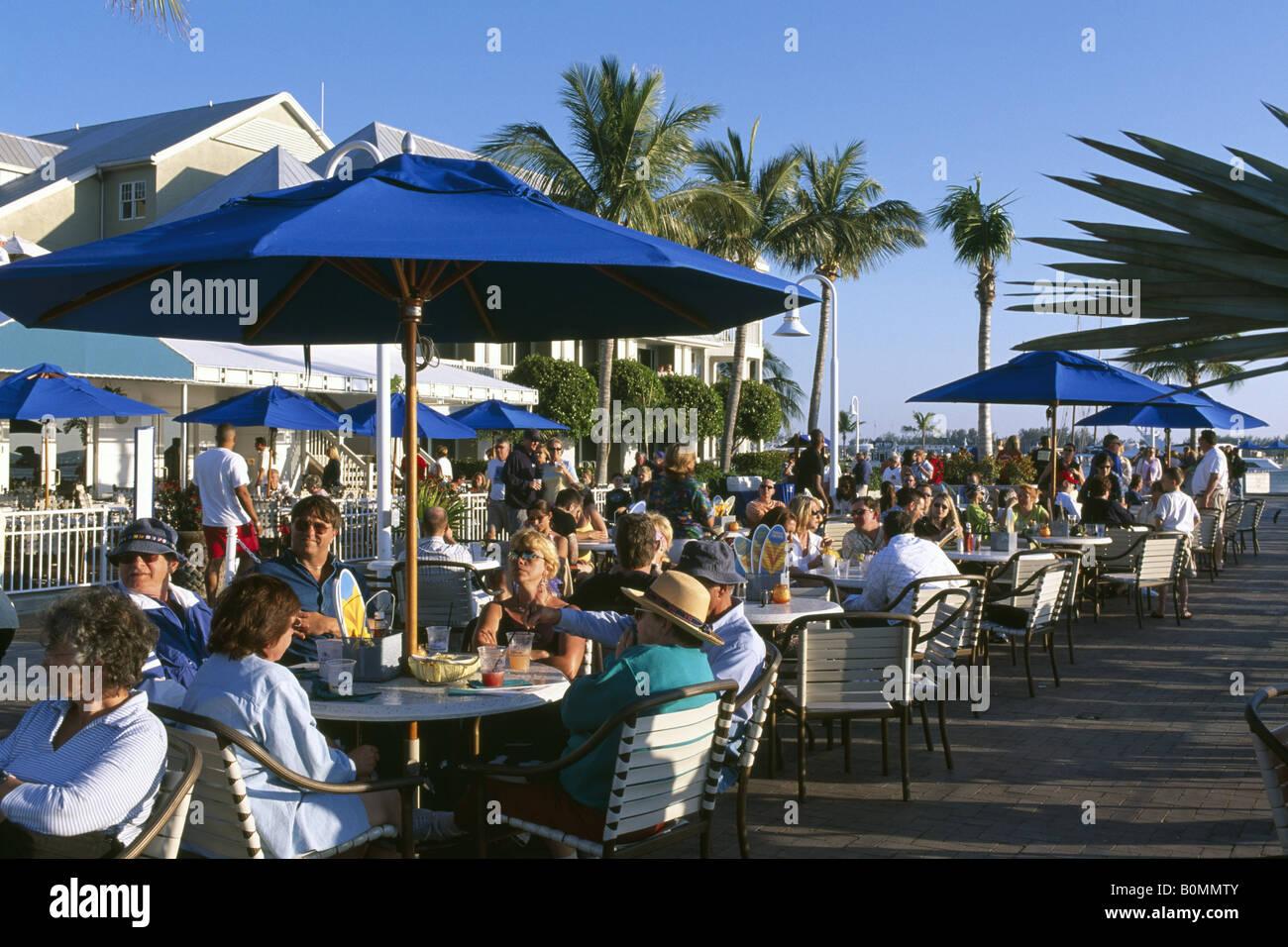 Street cafe during sunset Key West Florida Keys Florida USA - Stock Image