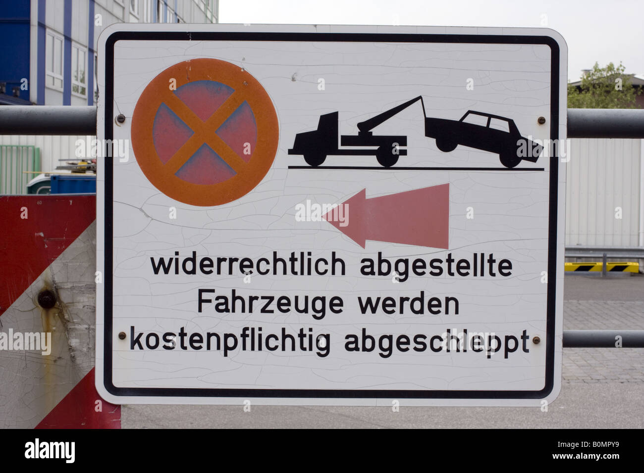 Parking Prohibition Sign, Germany - Stock Image