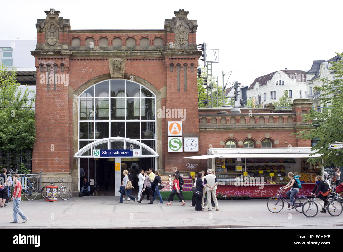 Sternschanze Station in Hamburg, Germany, May 2008 - Stock Image