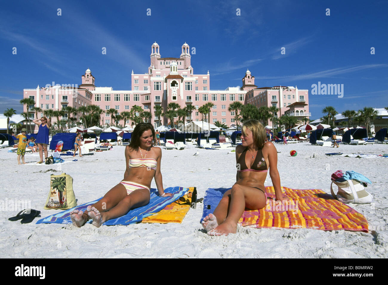 girls at don cesar resort hotel st pete beach st petersburg florida stock photo 17668142 alamy. Black Bedroom Furniture Sets. Home Design Ideas