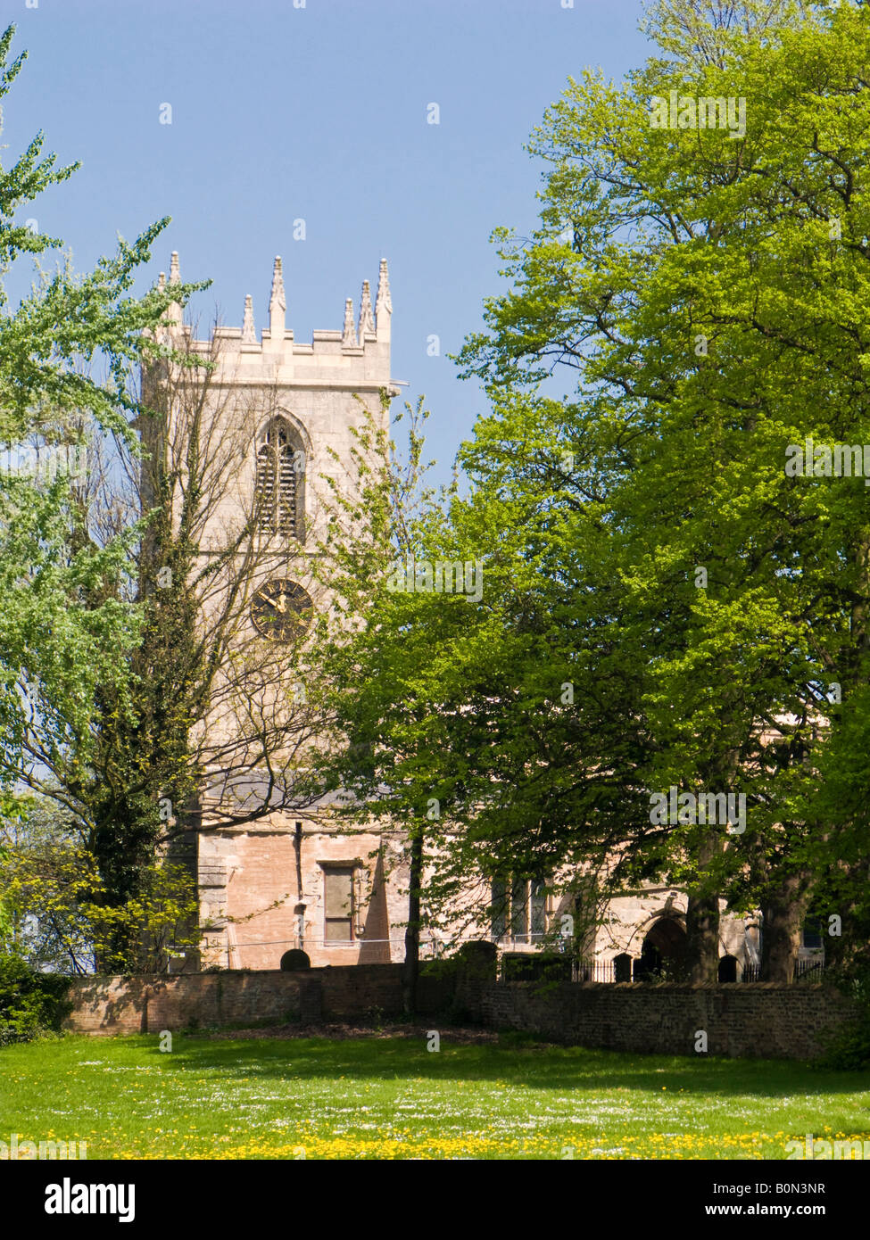 St Andrews the Parish Church at Epworth North Lincolnshire UK where 'Samuel Wesley' was rector - Stock Image