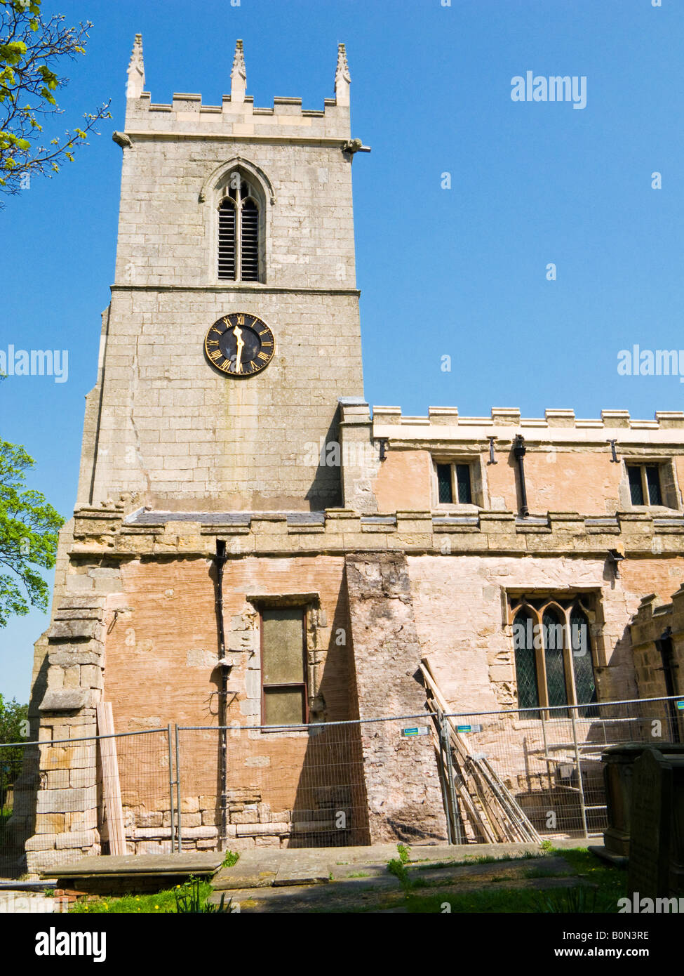 St Andrews the Parish Church at Epworth North Lincolnshire UK where Samuel Wesley was rector - Stock Image