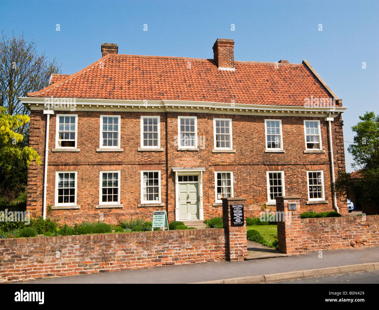 The Old Rectory, birthplace and home to the founders of Methodism John and Charles Wesley at Epworth, North Lincolnshire, - Stock Image