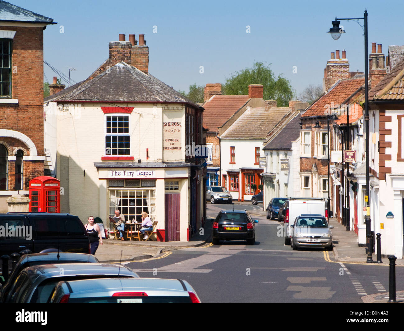 High Street in Epworth, North Lincolnshire, UK - Stock Image
