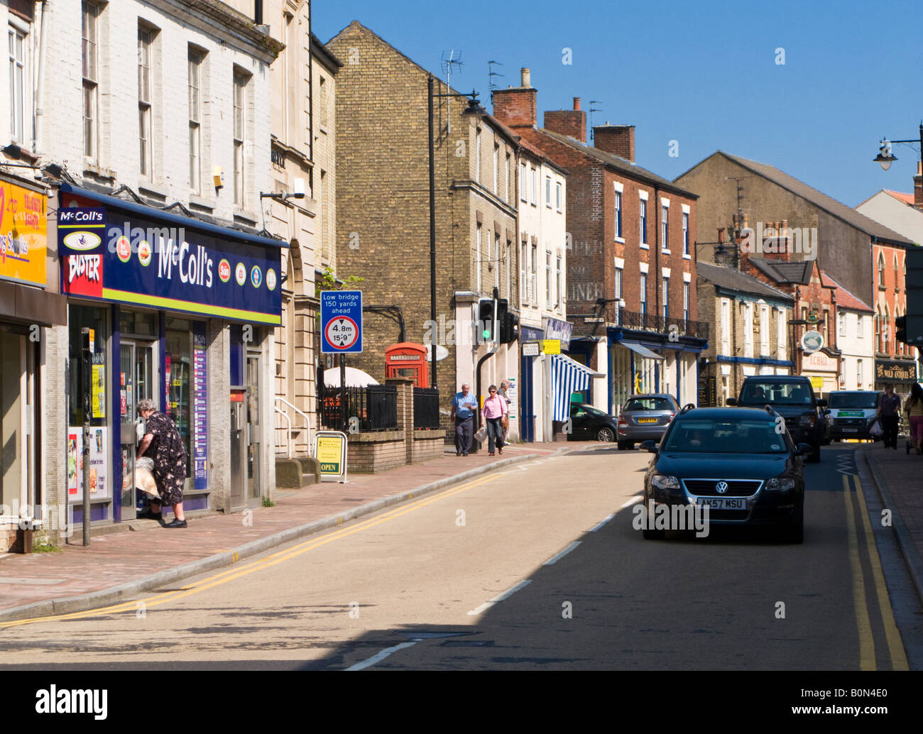 Town Centre at Market Rasen, Lincolnshire, UK Stock Photo ...