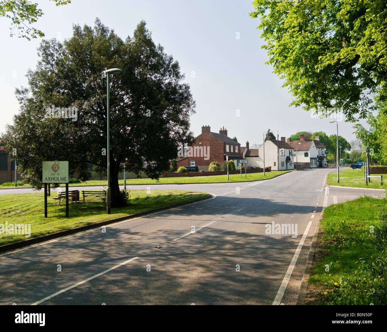 Historic region of Lincolnshire - the Isle of Axholme at Eastoft North Lincolnshire UK - Stock Image