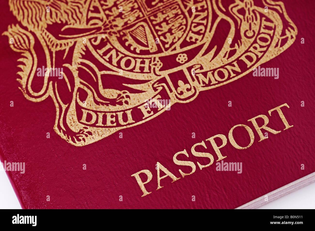 British Passport Close Up - Stock Image
