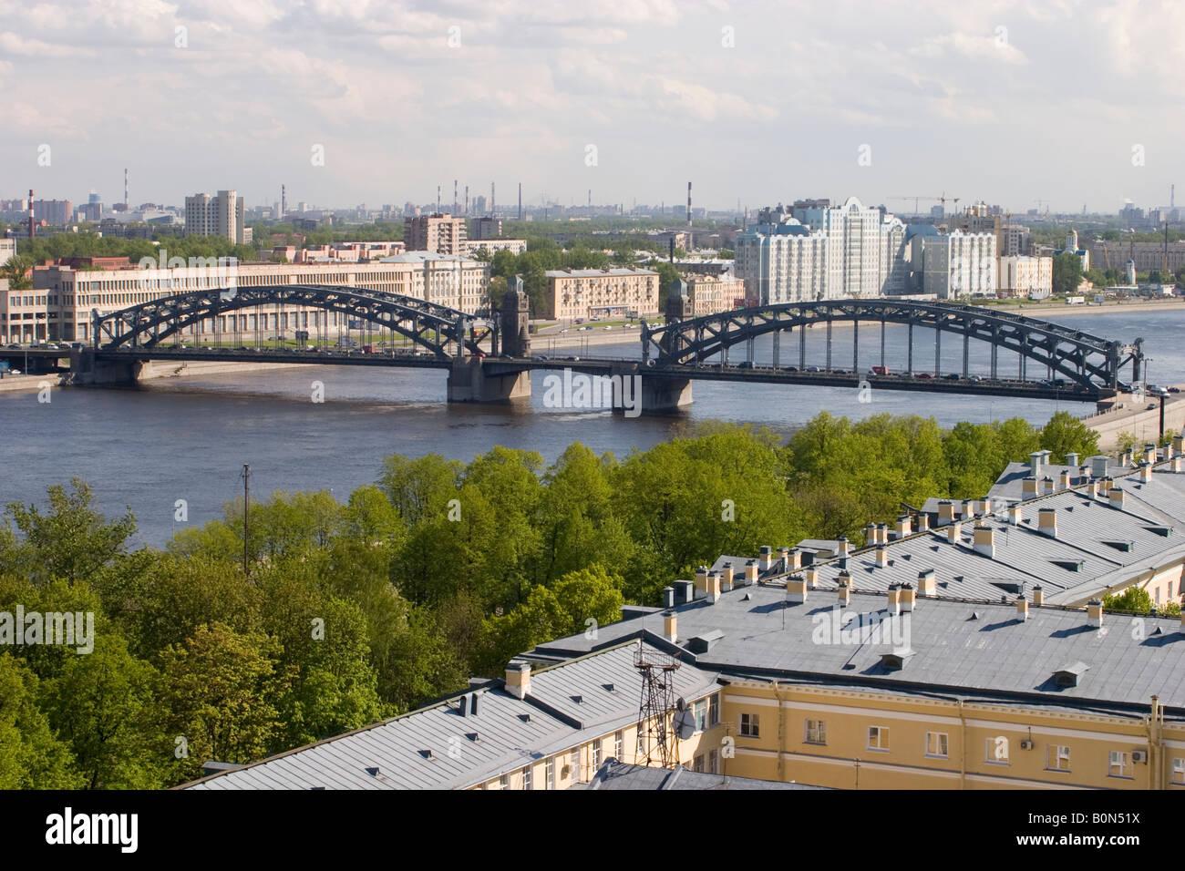 Bolsheokhtinsky Bridge in St. Petersburg: its history and photo 10