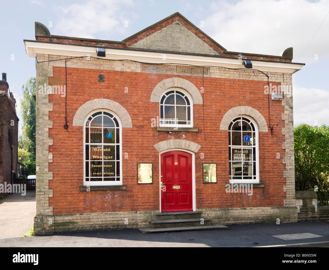 The 1868 Temperance Hall in Epworth, North Lincolnshire, UK - Stock Image