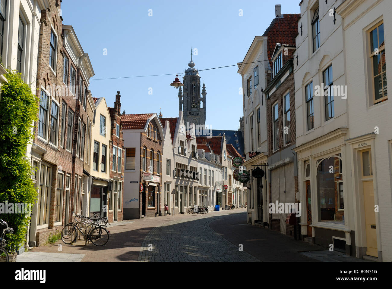 Street in Middelburg, the Netherlands Stock Photo