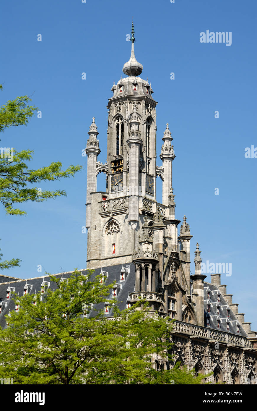 Part of the city hall in Middelburg, the Netherlands Stock Photo